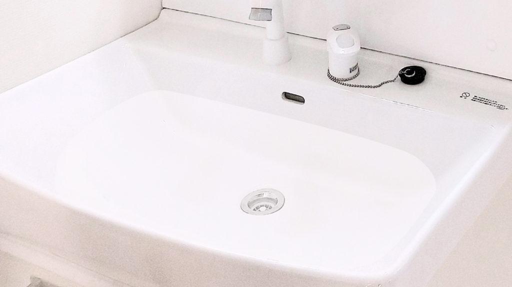 詰まって流れない洗面所画像